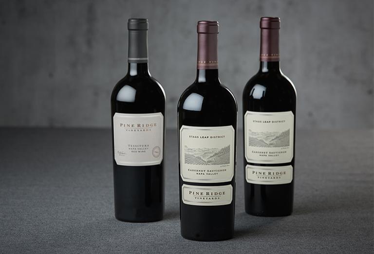 3 bottles of Pine Ridge Vineyards wines